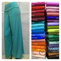 Celana Panjang Kulot Basic Wanita L-XL Jersey Kaos Long Pants Polos