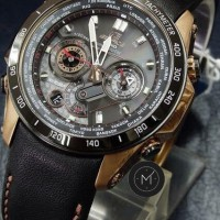 Jam Tangan Pria Casio Edifice EQW-M1000 Chronograph Leather