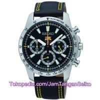 Jam Tangan Seiko SSB073P2 Chronograph FC Barcelona Black Yellow