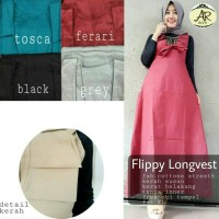 SUPPLIER OUTER HIJAB : FLOPPY LONG VEST ORI BY AR