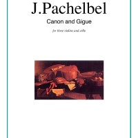 Buku Canon in D and Gigue by Johann Pachelbel for 3 violin dan cello
