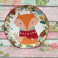 red foxie / piring hias makan cantik : gelas piring keramik