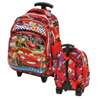 Tas Trolley Play Group Import Cars Mcqueen 6D Timbul - Red