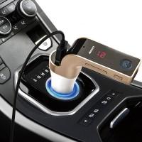 harga 4 in 1 Hands Free LED Bluetooth Car FM Transmitter MP3 Car Charger -G7 Tokopedia.com
