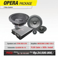 OPERA AUDIO PACKAGE 3WAY KOMPONEN - SPECIAL GAIKINDO 2016