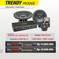 TRENDY AUDIO PACKAGE 2WAY KOMPONEN - SPECIAL GAIKINDO 2016