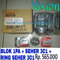 harga [paket Hemat] Yamaha Vixion Blok Seher Piston Ring Set Orisinil Tokopedia.com
