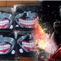 TG Kaneki Mouth Mask masker mulut kain hitam cosplay tokyo ghoul motor