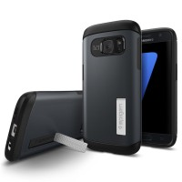 Original Spigen Samsung Galaxy S7 Case Slim Armor Metal Slate