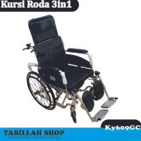 Kursi Roda 3 fungsi / Kursi roda 3in1 sella / Grosir alkes