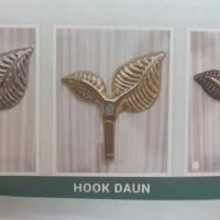 Hook Gorden Huk Gordeng Daun Minimalis Tempat Gantungan Tali Kordeng