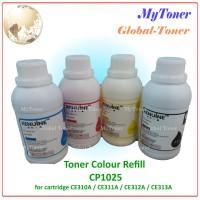 SERBUK TONER COLOR REFILL PRINTER CP1025 / CE310A / CE311A CP 1025