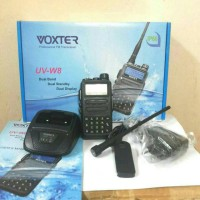 Harga radio ht handy talky voxter uv w8 dualband vhf uhf waterproof | antitipu.com