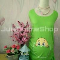 Baju Hamil Unik Baby Pocket Hijau - Juni Online Shop
