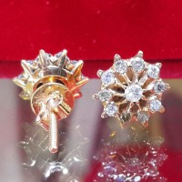 TERMURAH Giwang Anting BERLIAN Natural Diamond Ring Emas 50%