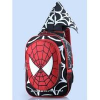 Jual Tas Sekolah Anak Laki Laki Motif Spiderman Bertopi GYN 4633 Murah