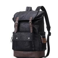 Tas Ransel Backpack Kulit Pria Man Leather Bag Laptop Big Capacity