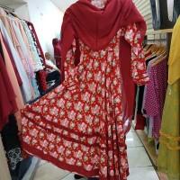 Pakaian Stelan Baju Muslim Gamis Wanita Model Katun Jepang Harga Murah