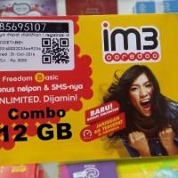 harga perdana indosat 12gb data mentari 2gb + kuota internet im 3 10 gb 4g Tokopedia.com