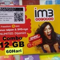 harga perdana im 3 12 gb 60 hari data mentari 2 gb + internet indosat 10 gb Tokopedia.com