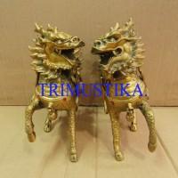 harga Patung Kuda Kepala Naga sepasang / Kilin / Jiling kecil kuningan Tokopedia.com