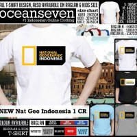 Kaos Ocean Seven Distro NEW Nat Geo Indonesia 1 CR Limited
