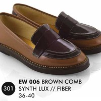 Sepatu Wanita Murah, Kode Sepatu EW 006 BROWN COMBAD