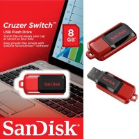 USB2.0 FlashDisk SanDisk 8GB Cruzer Switch ORIGINAL Garansi Resmi NEW!