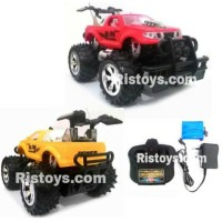 Rc Mobil Bigfoot Storm Warna Merah / Kuning Skala 1:24