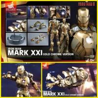 Hot Toys Iron Man 3 Mark 21 Midas Gold Chrome