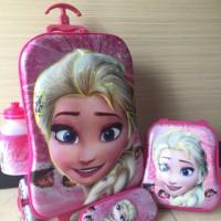 harga Tas Trolley Anak 6D 4 in 1 Set Frozen Big Pink Tokopedia.com