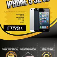 IPHONE 5 32 GB BLACK/ WHITE GARANSI 1 TAHUN DISTRIBUTOR