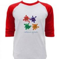 Jual Kaos Raglan  Colour Space Tshirt Distro Clothing Murah