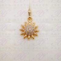 Yaxiya liontin permata perhiasan imitasi warna gold 18K
