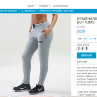Gymshark Women Fit Bottoms - Grey Marl