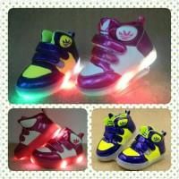 Blue yellow shoes / Pink white shoes / sepatu lampu led anak