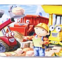Jual Puzzle Jigsaw Kayu 6x10 (60 Potong) Kotak Kaleng Bob Builder PL-039 Murah