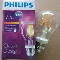Lampu Led Ledbulb Decorative Philips Classic Pijar 7,5w Dimmable