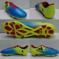 Sepatu Bola Adidas X16 Biru-Stabilo list Hitam Grade Ori