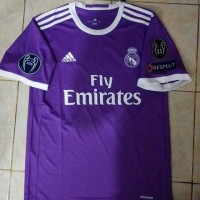 JERSEY REAL MADRID AWAY FULL PATCH UCL 2016/2017