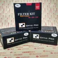 Optic Pro Filter Kit (Uv + Cpl + Fld) 72mm