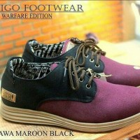 Sepatu Prodigo Ambarawa Maroon Black Original Handmade