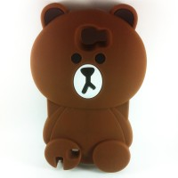 harga Samsung Galaxy Note 2 N7100 3D Cute Cartoon Teddy Brown Soft Silicone Tokopedia.com