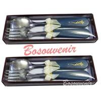souvenir pernikahan murah sendok garpu + box mika