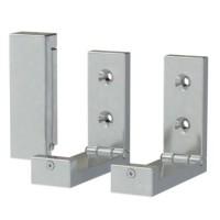 IKEA BJARNUM - Pengait lipat, Aluminium - Isi 3