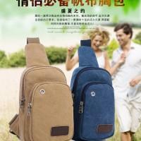harga SB002 Tas Sling Bag Kanvas Wanita Earphone Hole Selempang Tokopedia.com