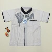 Jual Baju koko anak warna putih bordir ukuran 2 LD68 PB39 Murah