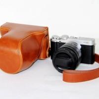 Full & Half Case For Fujifilm X-M1 / X-A2 Light Brown