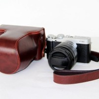 Full & Half Case For Fujifilm X-M1 / X-A2 Dark Brown