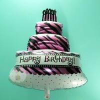 Balon Foil Cake / Kue Happy Birthday 1m